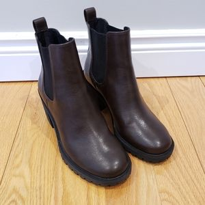 Shoes - Lightly Worn Mid-Ankle Vegan Leather Boots